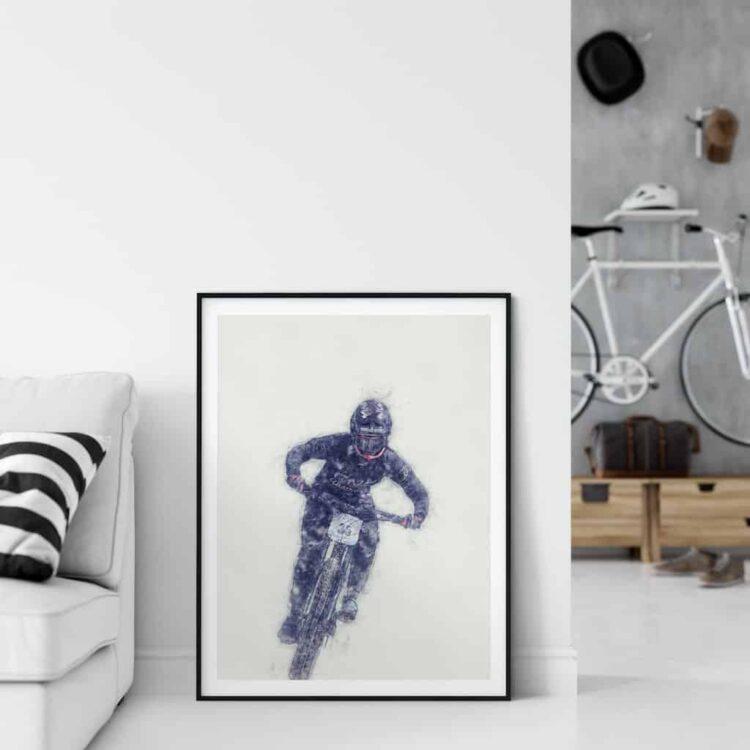 Ainhoa Downhill Poster noanahiko art print