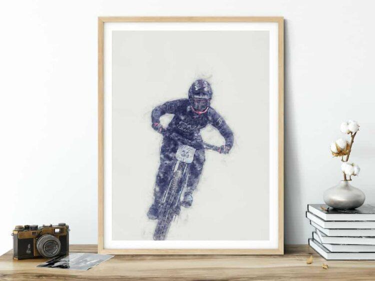 Ainhoa Downhill Poster noanahiko art print bike mtb