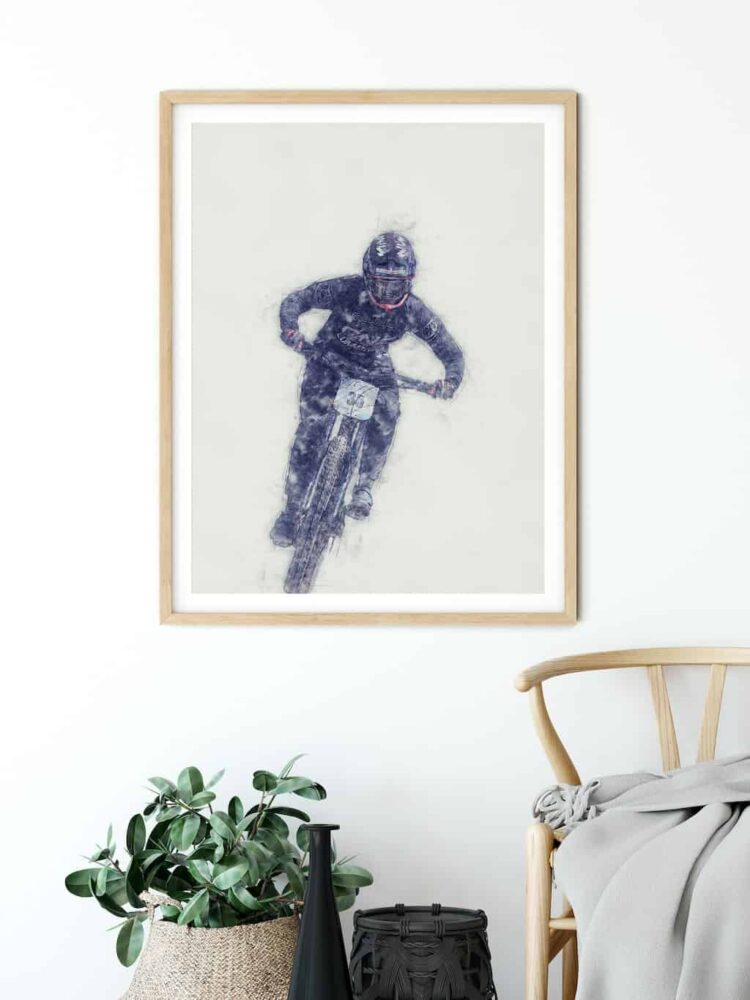 Ainhoa Downhill Poster noanahiko art print kids decor