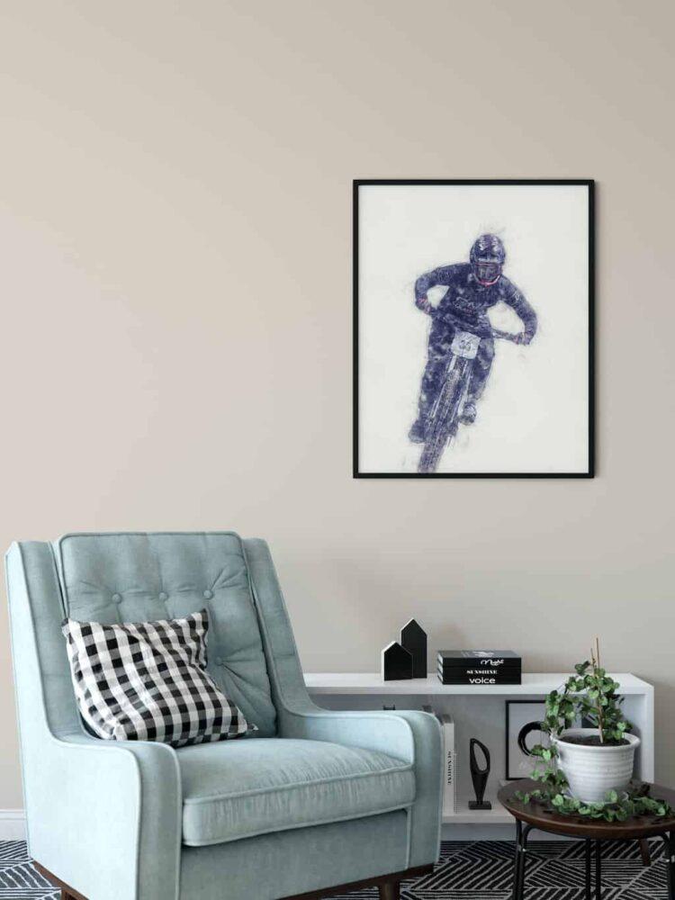 Ainhoa Downhill Poster noanahiko art print wall art printed