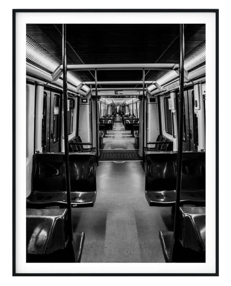 An empty subway poster noanahiko art prints