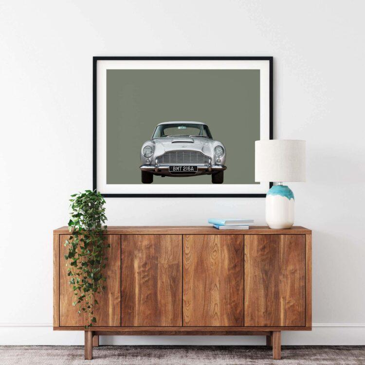 Aston Martin DB5 car Poster Noanahiko 0175