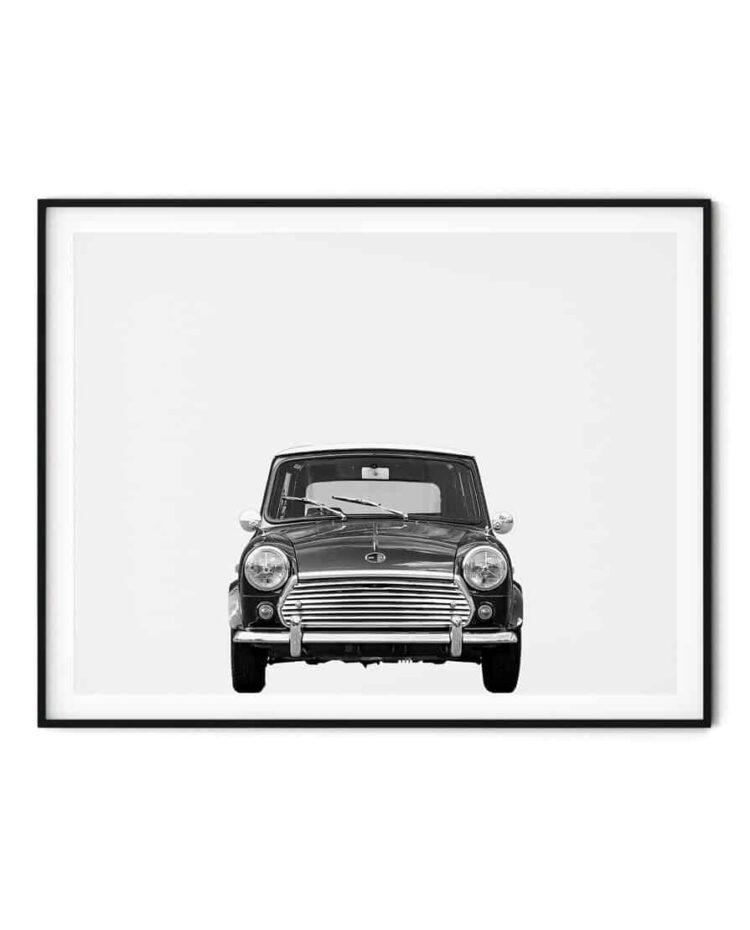 Austin Mini Classic Car Poster Front noanahiko art prints