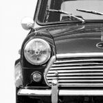 Austin Mini Classic Car Poster Front noanahiko photo print