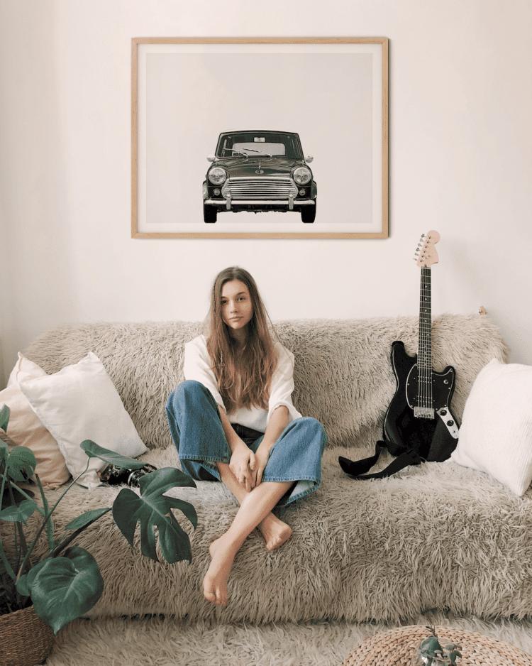 Austin Mini Classic Car Poster Front noanahiko printable photo