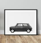 Austin Mini Classic Car Poster lat Noanahiko Wall art prints