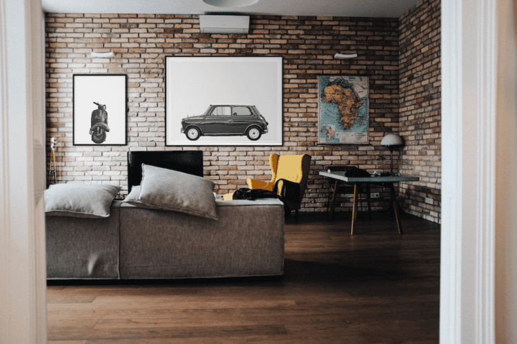 Austin Mini Classic Car Poster lat Noanahiko print decor