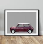 Austin Mini Classic car poster noanahiko art print