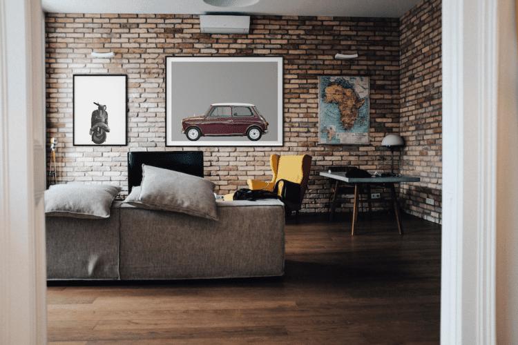 Austin Mini Classic car poster noanahiko art print home decor