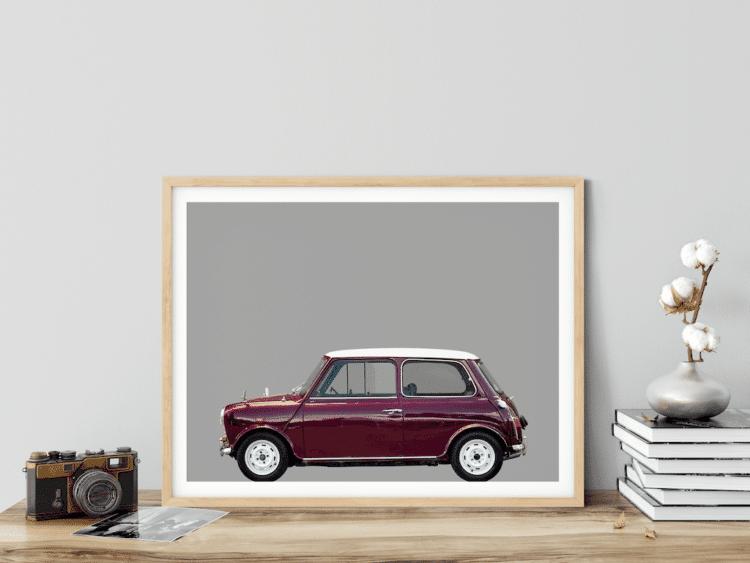 Austin Mini Classic car poster noanahiko modern wall art