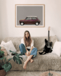 Austin Mini Classic car poster noanahiko wall art living room