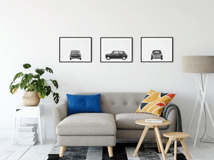 Austin Mini Poster classic car art print noanahiko wall decor