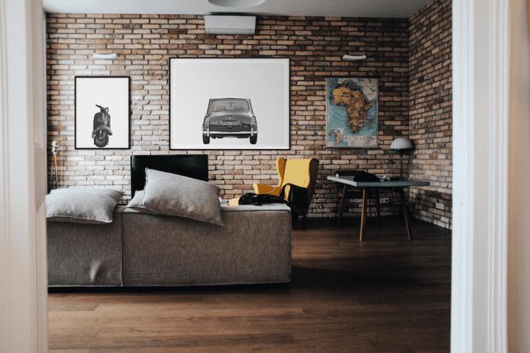 Austin Mini Poster classic car rear art print noanahiko home decor