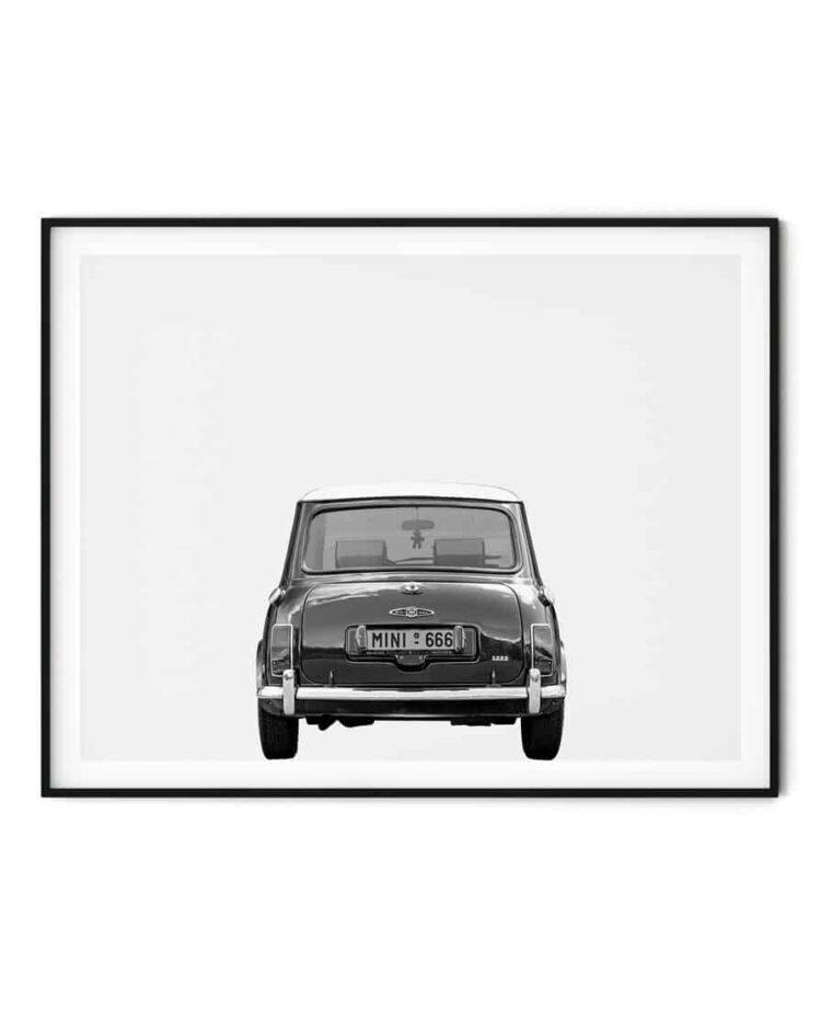 Austin Mini Poster classic car rear art prints noanahiko