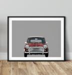 Austin Mini classic car art print noanahiko home decor