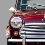 Austin Mini classic car poster art print noanahiko detail
