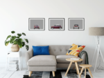Austin Mini classic car poster art print noanahiko modern wall art