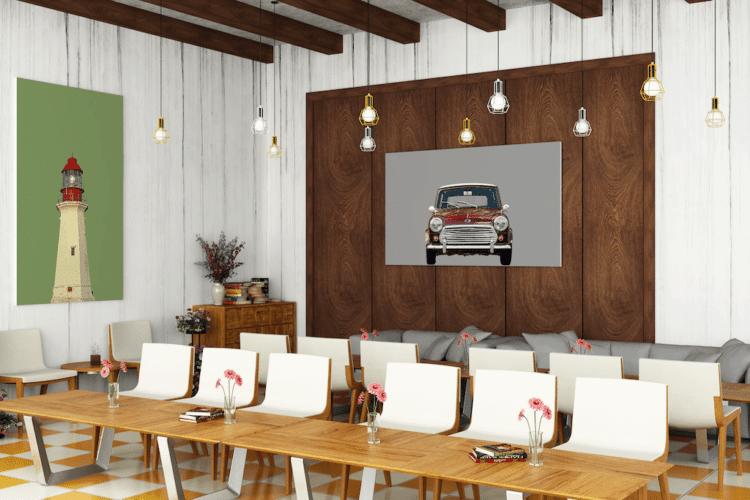 Austin Mini classic car poster noanahiko wall art
