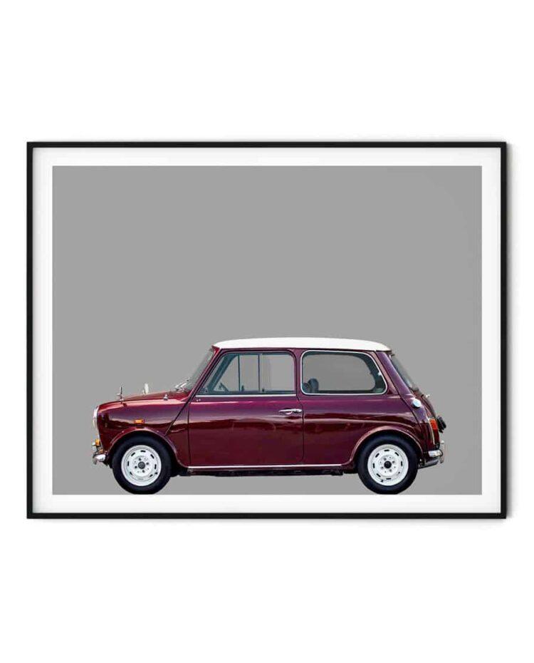 Austin Mini classic car side poster