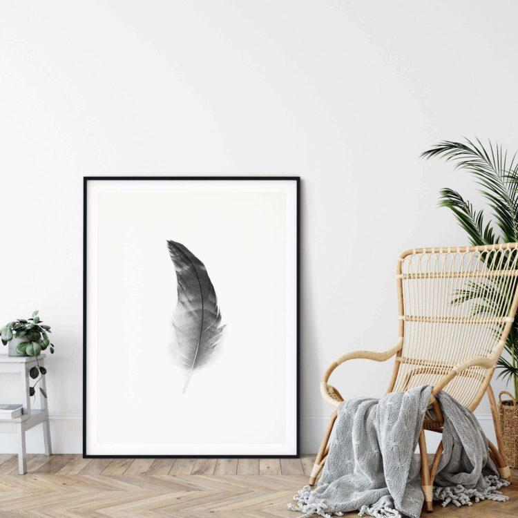 Black Feather poster print Noanahiko 0108
