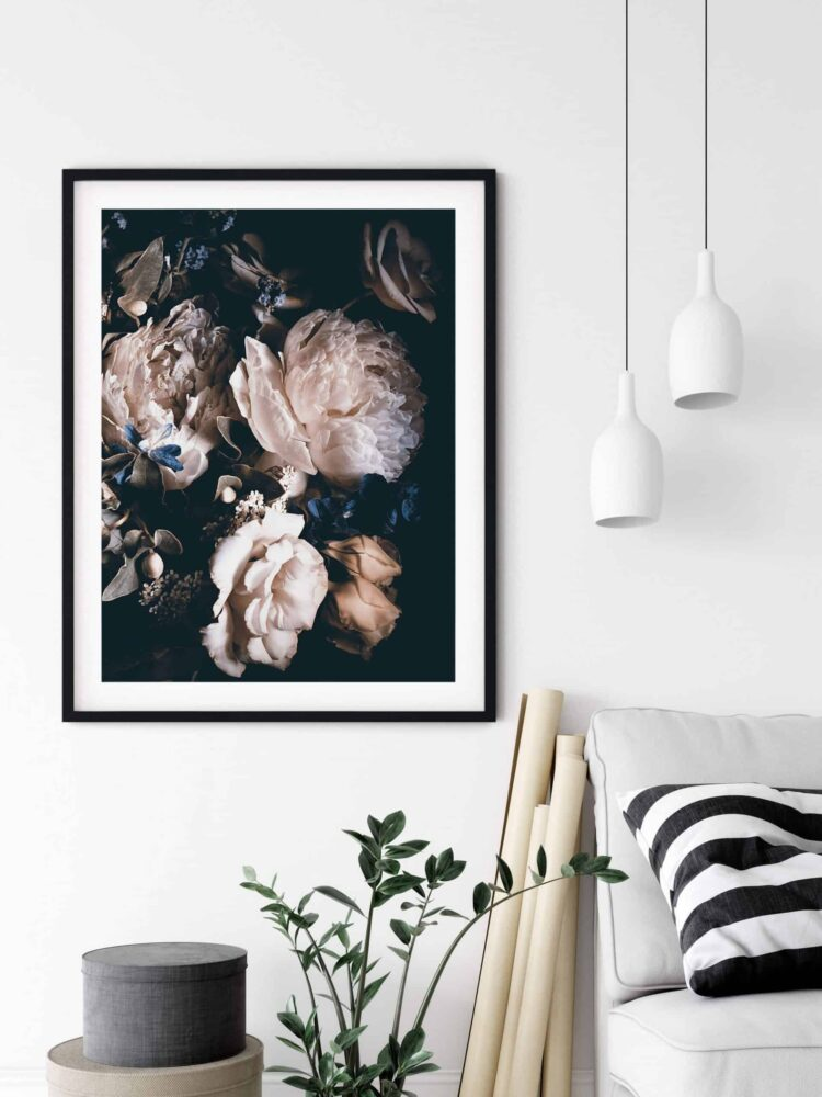 Bouquet Pink Peonies Poster Nonahiko art printable scaled 1