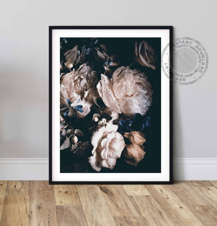 Bouquet Pink Peonies Poster Nonahiko home wall art