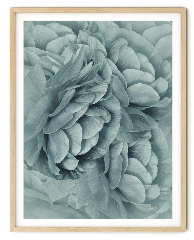Bouquet of Turquoise Flowers Poster art Noanahiko 0088