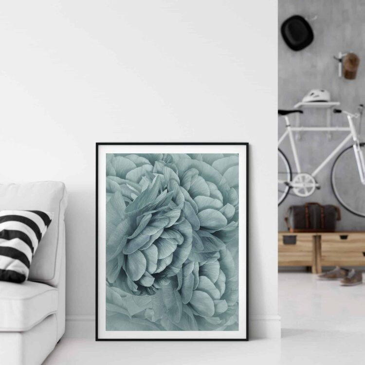 Bouquet of Turquoise Flowers Poster download Noanahiko 0088