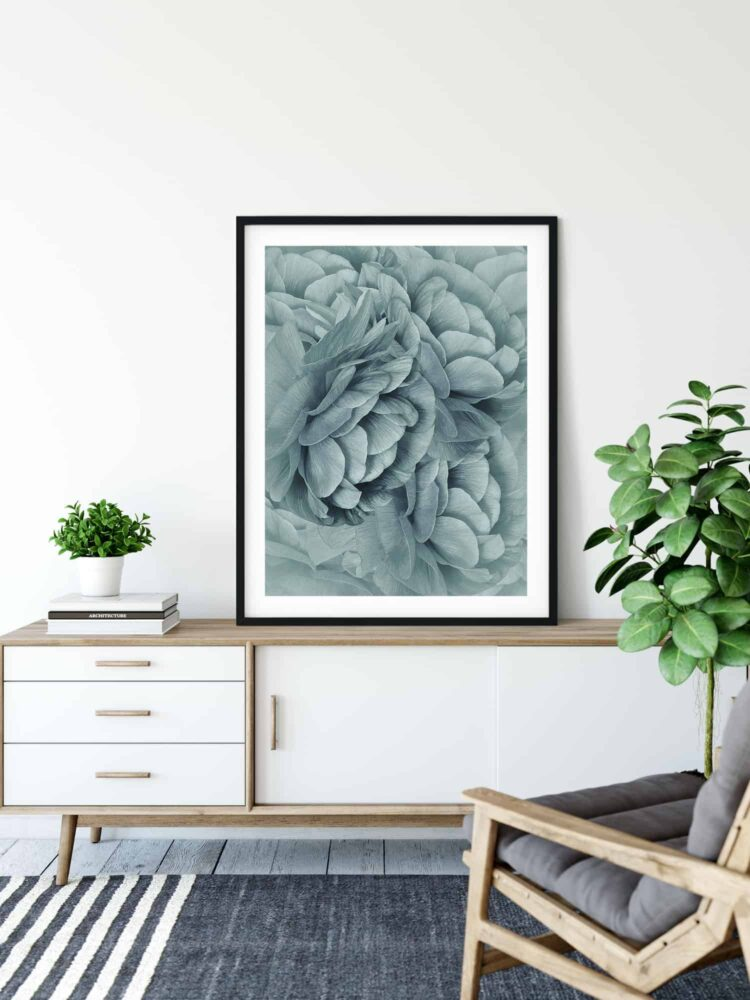 Bouquet of Turquoise Flowers Poster print Noanahiko 0088