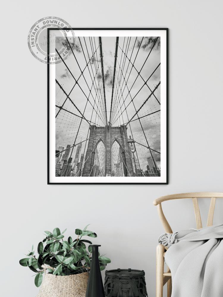 Brooklyn bridge poster print home decor bedroom