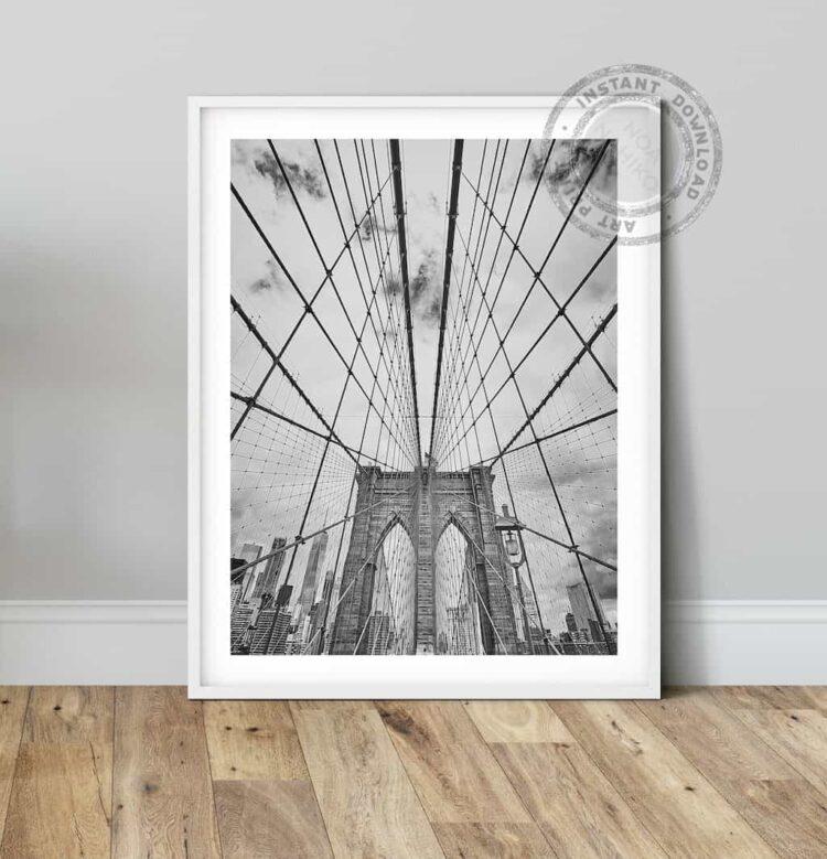 Brooklyn bridge poster print photo printable