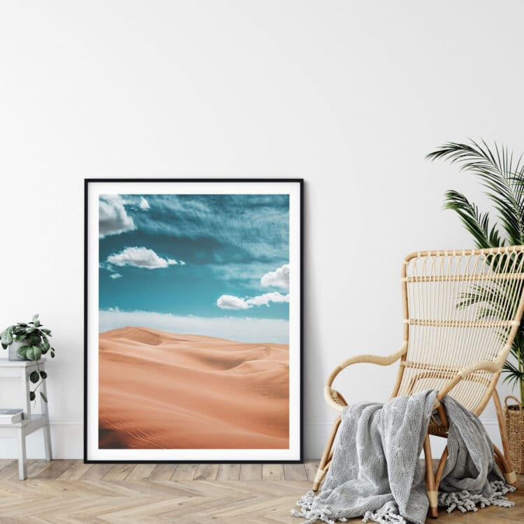 California Desert Glamis Dunes poster print Noanahiko 0110