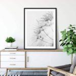 Dandelion Black White Noanahiko Printable Wall Art W 0126