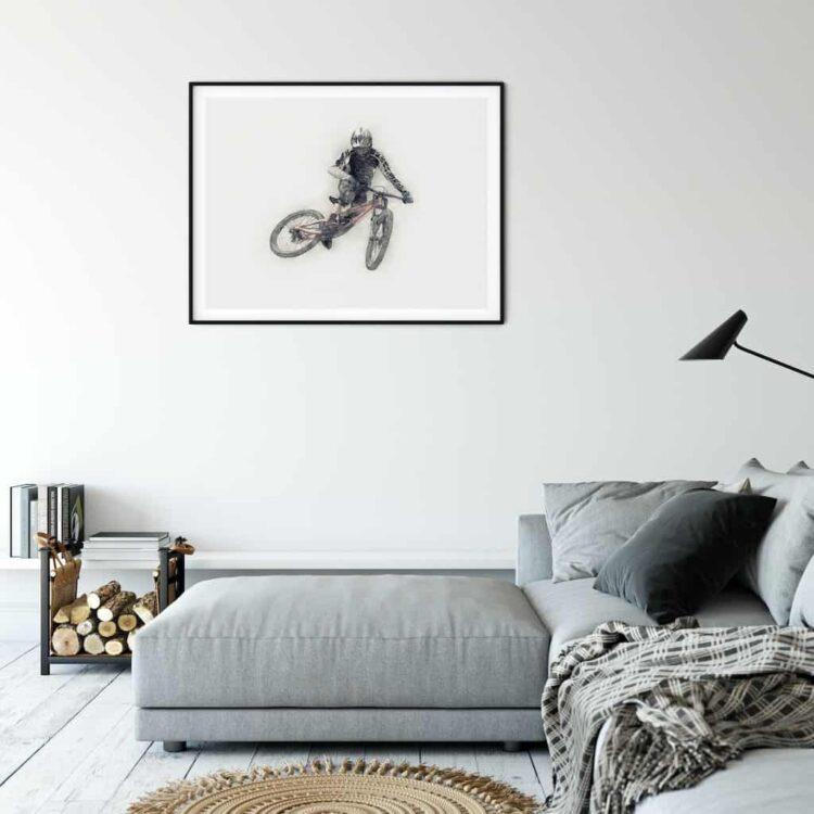 Downhill Mountain Bike Whip Poster noanahiko Wall Art printable photo