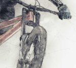 Downhill Mountain Bike Whip Poster noanahiko canvas