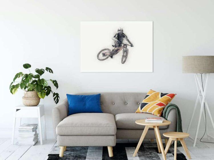 Downhill Mountain Bike Whip Poster noanahiko canvas pirnt