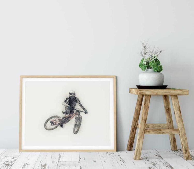Downhill Mountain Bike Whip Poster noanahiko photo