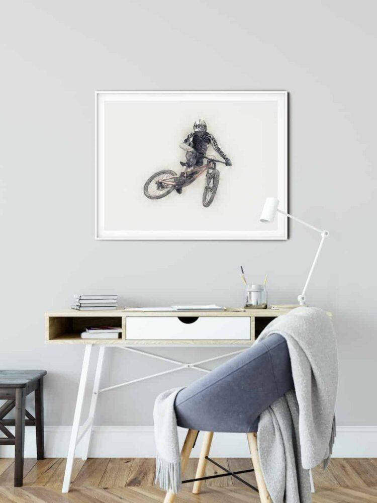 Downhill Mountain Bike Whip Poster noanahiko wall art donwload