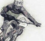 Downhill Mountain Bike cycling poster noanahiko art detail