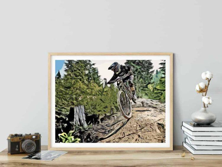 Enduro bicylce poster noanahiko art print
