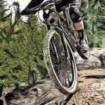 Enduro bike poster noanahiko art print detail