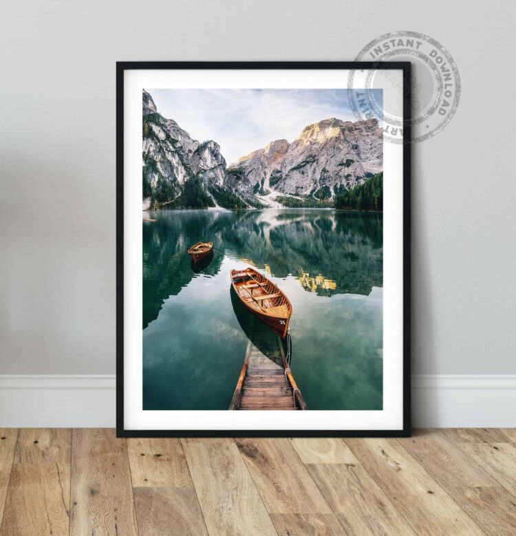 Featured Seekofel mountain Dolomites Poster Noanahiko Art Print 0093