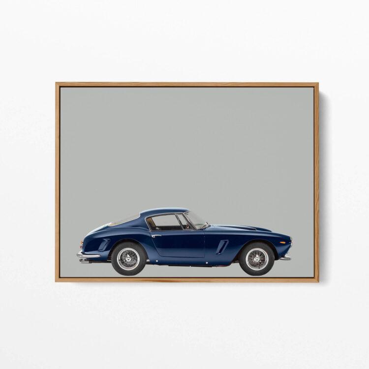 Ferrari 250GT 1963 sportscar poster print Noanahiko 0173 1