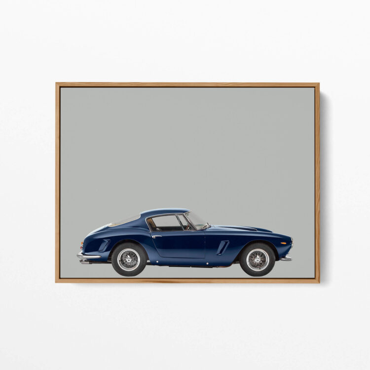 Ferrari 250GT 1963 sportscar poster print Noanahiko 0173
