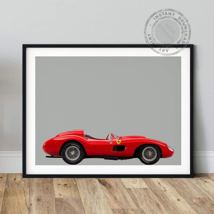 Ferrari 857 S Sports Car poster print Noanahiko 0160 03