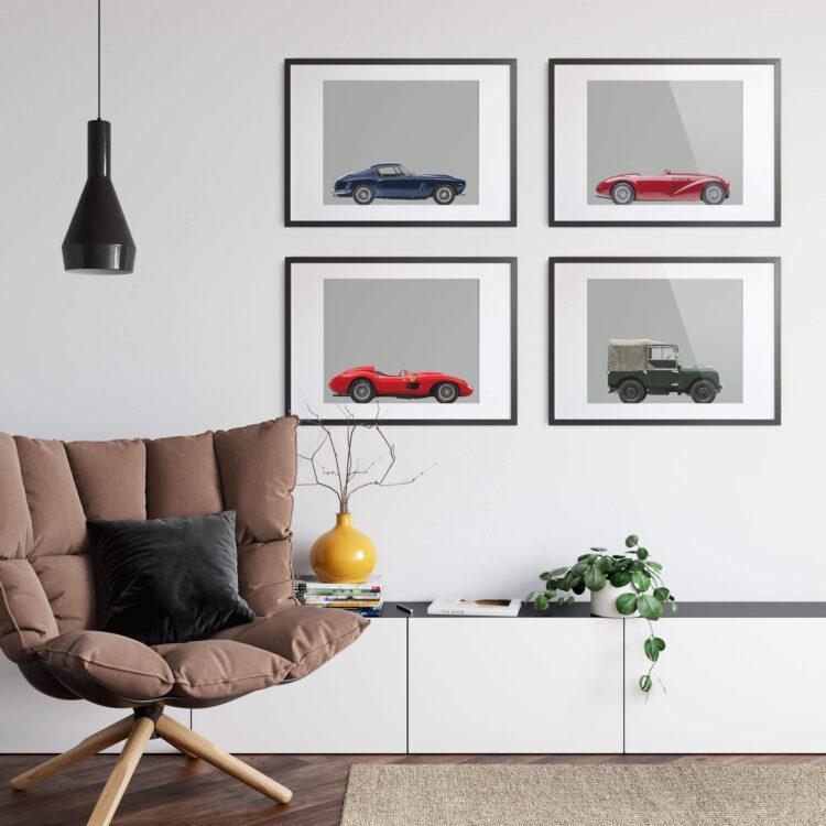 Ferrari Sports Car noanahiko poster 4 prints 1