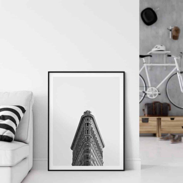 Flatiron Building New York Poster noanahiko home decor bedroom