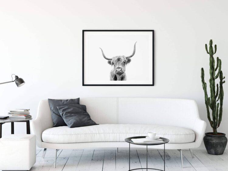 Highland Cow Scotland poster print Noanahiko 0153 scaled 1