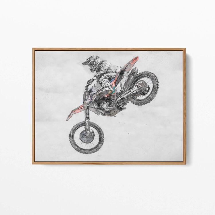 MX Motocross Air Time Noanahiko Art Print 0177