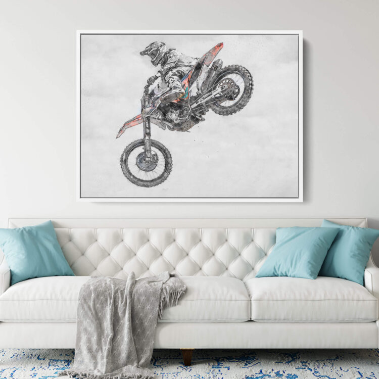 MX Motocross Air Time Noanahiko Printable Wall Art 0177